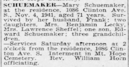 Rochester Democrat and Chronicle 7 November 1941 -