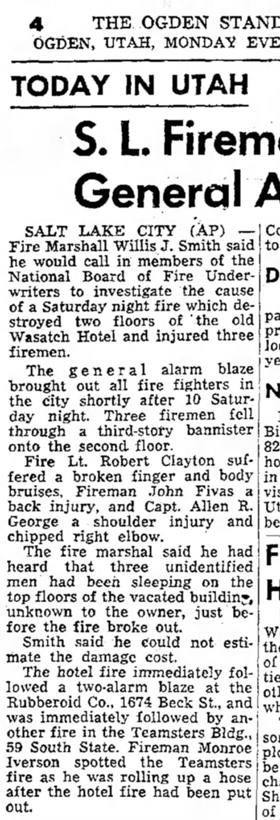 OSE 1-16-56 Allen G. fire injury -