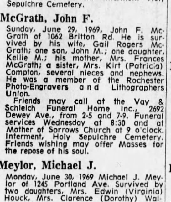 cousin john mcgrath -