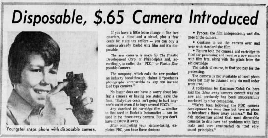 65-cent disposable camera -