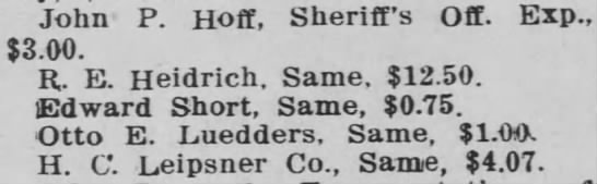 Otto Luedders - Claims notice 1932. -
