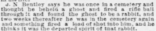 Created a Ghost by Mistaking it for a Ghost -