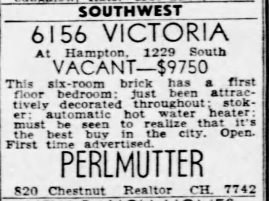 Victoria house for sale 1950 -