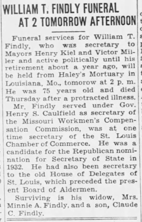 William T. Findly Funeral -