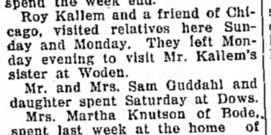 Roy  and friend visit Ida
