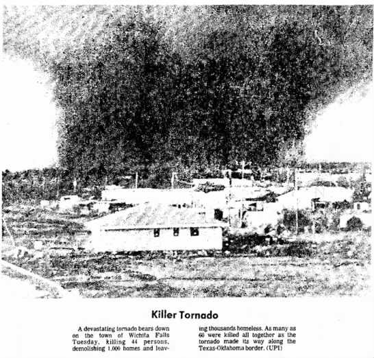 1979 Tornado Terrible Tuesday Wichita Falls,TX - Tom Malmay -