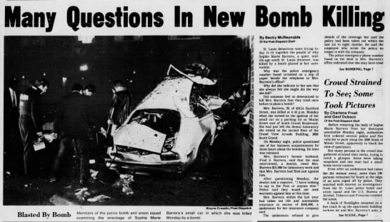 """Jan. 14, 1980: Car bombing was the work of the """"Southside Dentist"""" -"""