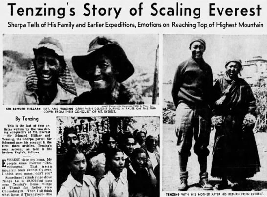 Tenzing and Everest -