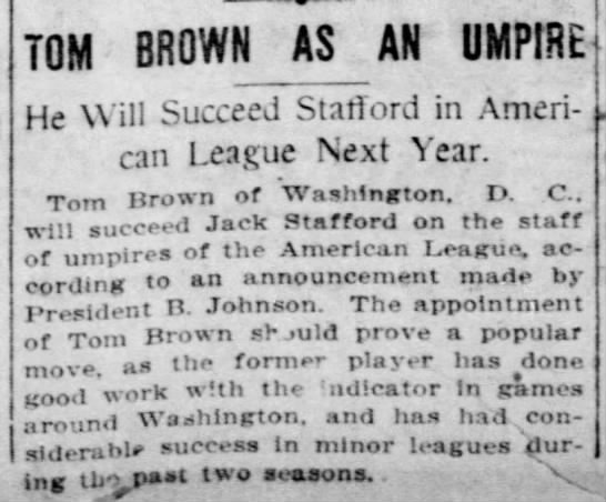Tom Brown as an Umpire -