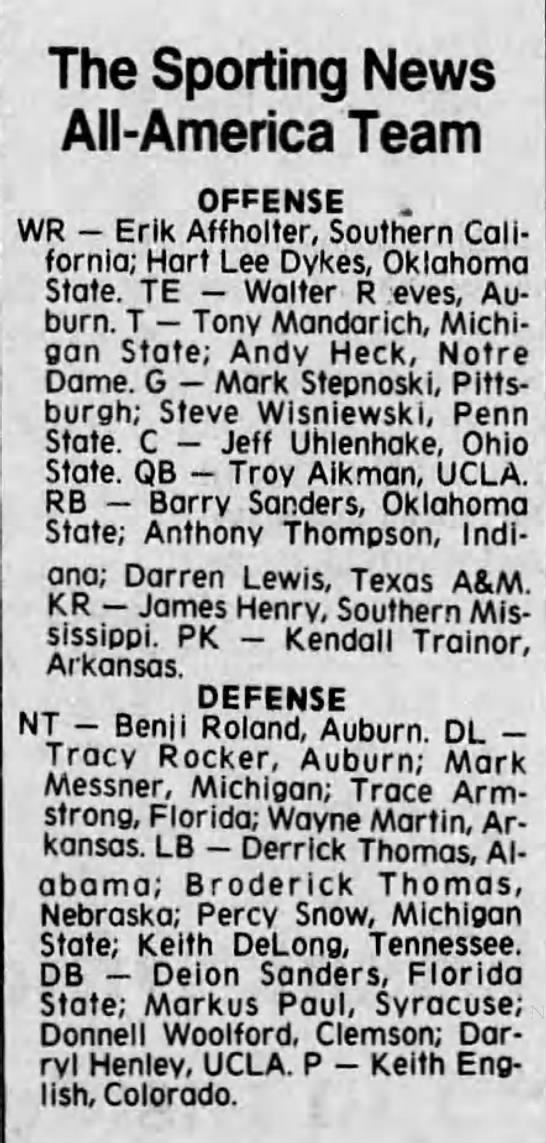 The Sporting News All-America Team -