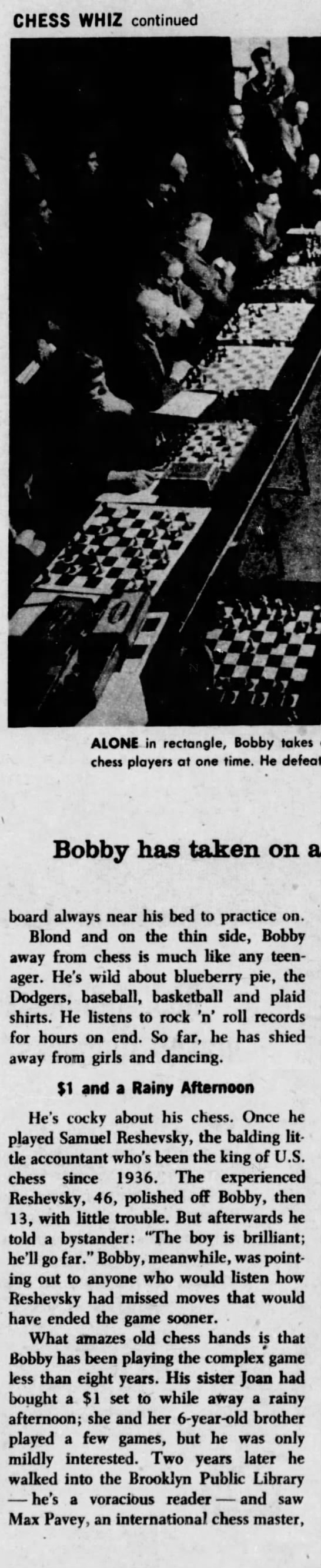 Only 14, he's a chess whiz (Column 4) -