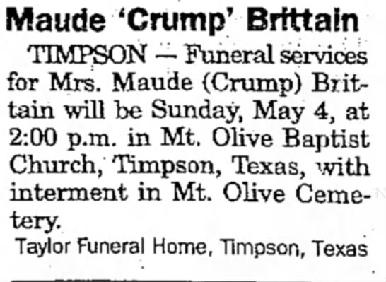 Maude Crump
