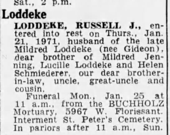 Russell J Loddeke -
