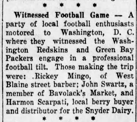 Rickey Mingo goes to DC football game -