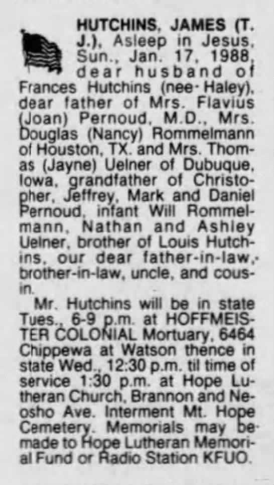 James Hutchins -obituary -
