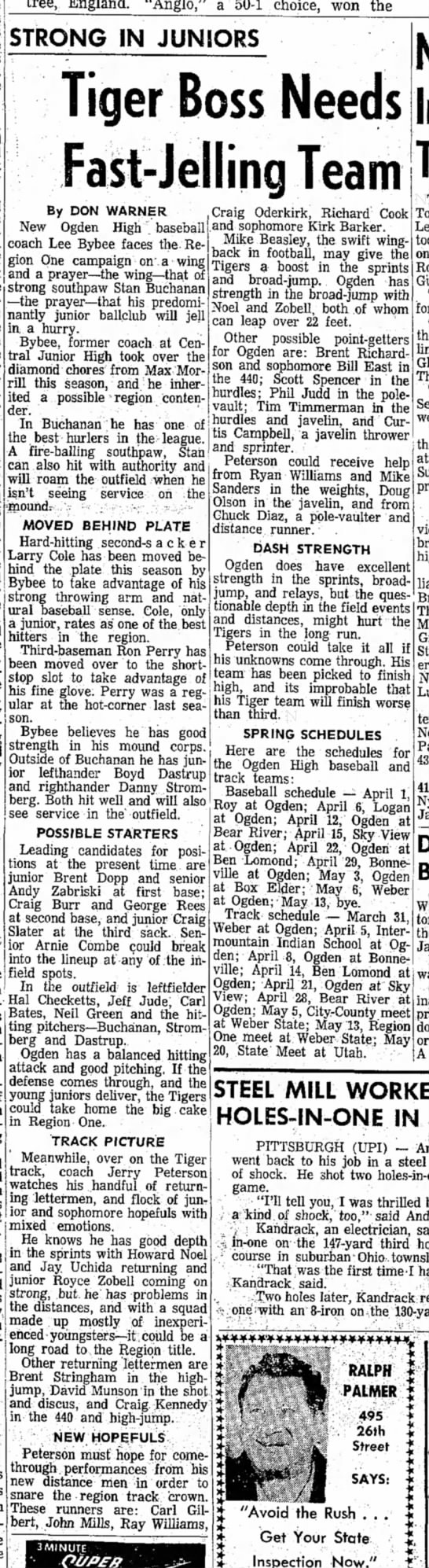 1966 OHS Baseball preview -