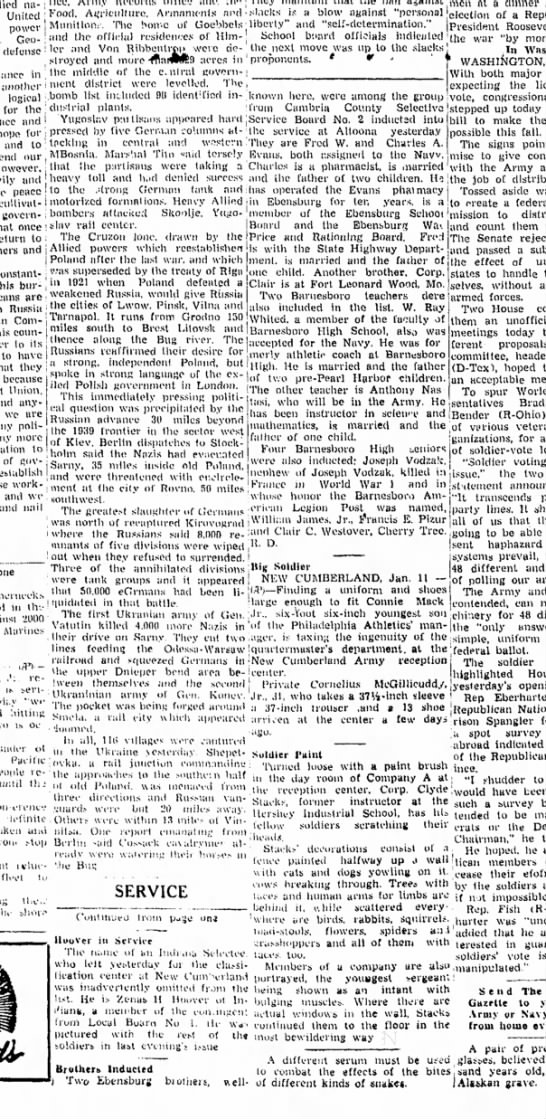 The Indianna Gazette (Indianna, PA 11 Jan 1944) -