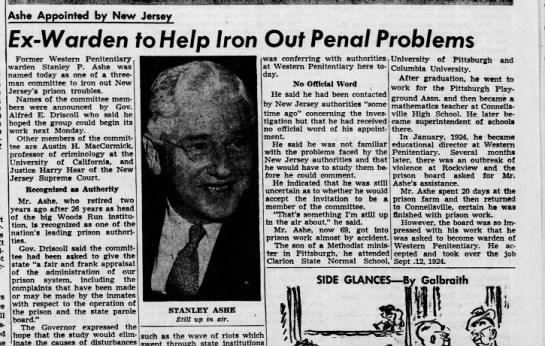 Pittsburgh Press April 25 1952 p. 27 -