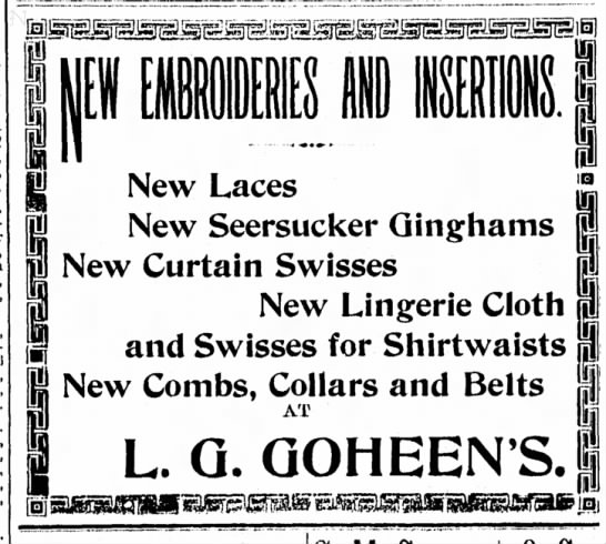 advertisement article dated 14 march 1907 -