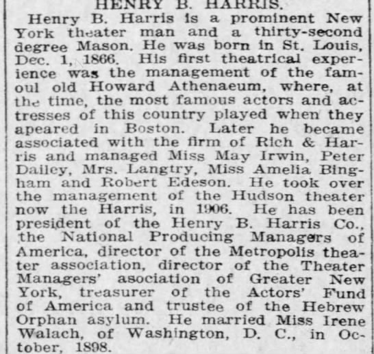 Henry B. Harris Pittsburgh -