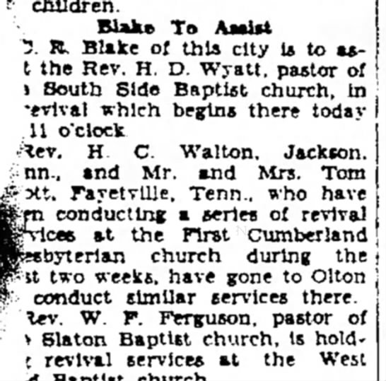 Rev Wyatt -