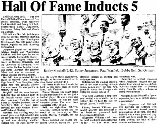 Hall Of Fame Inducts 5 -