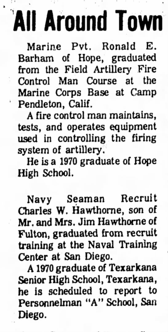 Hope Star p2, 29 Mar 1973 Charles W Hawthorne -