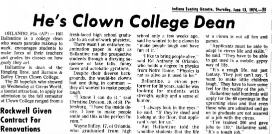 Clown College Dean-Ballantine -