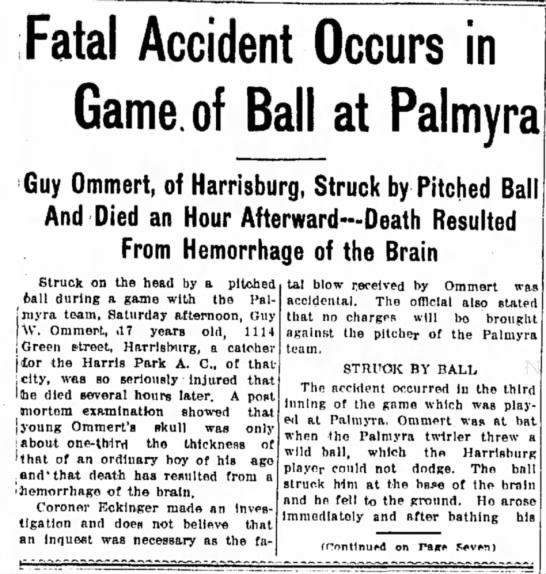 - Fatal Accident Occurs in Game, of Ball at...