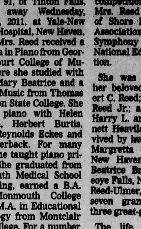 Lillie Ann Heaviland Reed obituary - Newspapers com