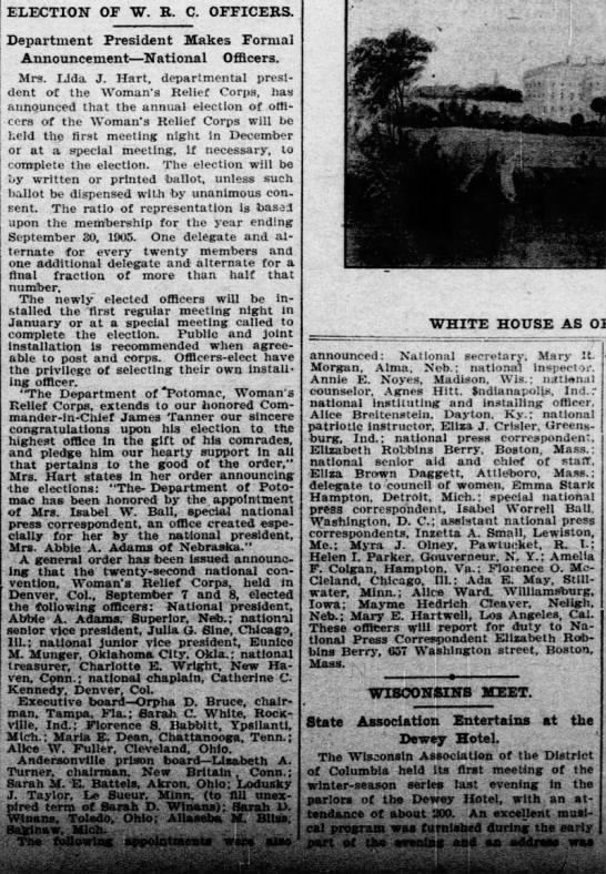 Election of W.R.C. Officers -