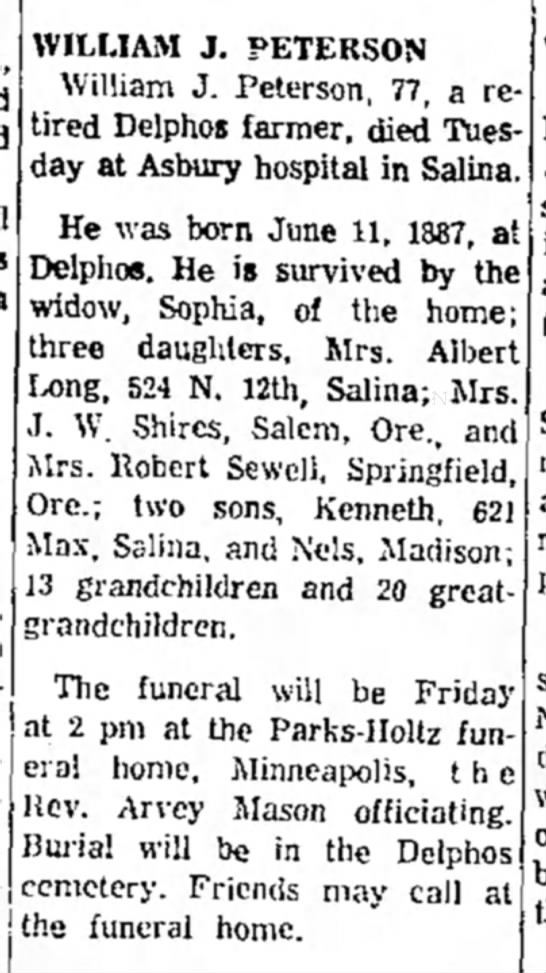 William Peterson obit
