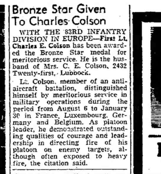 - Bronze Star Given To Charles Golson WITH THE...