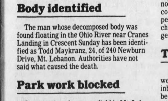 Todd Maykranz death -