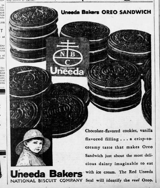 Oreo ad, 1931 -