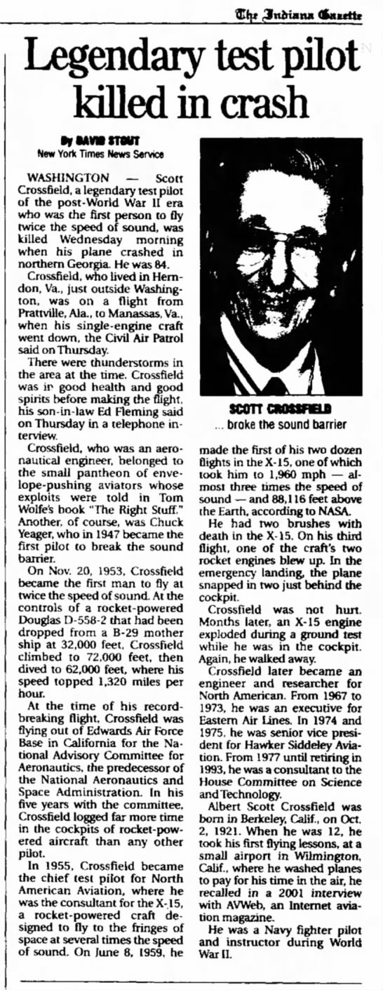Albert Scott Crossfield