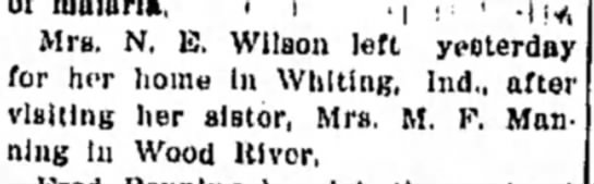 Mrs M F Manning and Mrs N E Wilson (Carrie) -