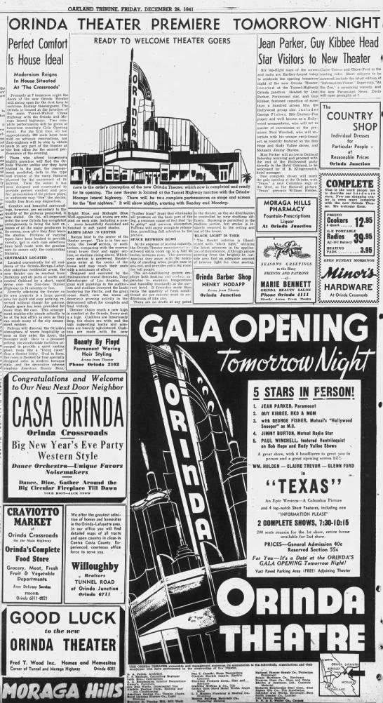 Orinda theatre opening -