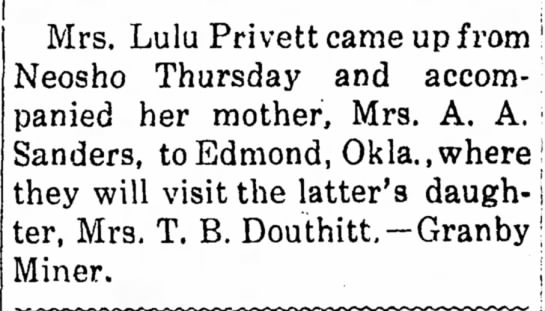 Mrs. T. B. Douthitt