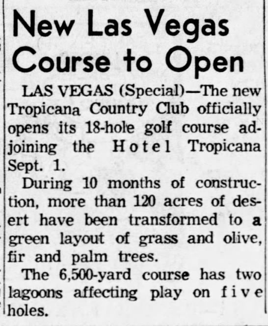New Las Vegas Course to Open -