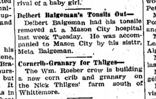 delbert balgemans tonsils out -