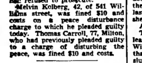 Thomas Carroll arrest