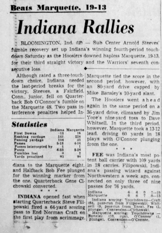 The Akron Beacon Journal  November 4, 1956 -