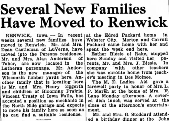 moved to Renwick 11/9/34 -