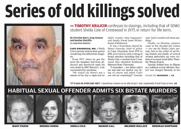Remember these notable St  Louis-area serial killers? | Law and