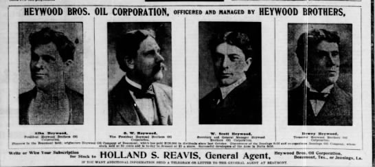 Heywood Brothers - HEYWOOD BROS. OIL CORPORATION, officered and...