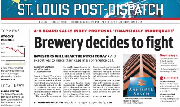10 years after deal, A-B InBev struggles to grow in U S  | David
