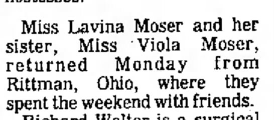 9 Aug 1977 Moser Aunts to Rittman, Ohio