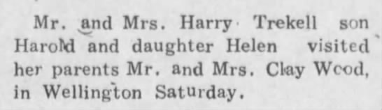 Mr. & Mrs. Clay Wood, Harold and Helen, Mr. & Mrs. Clay Wood -