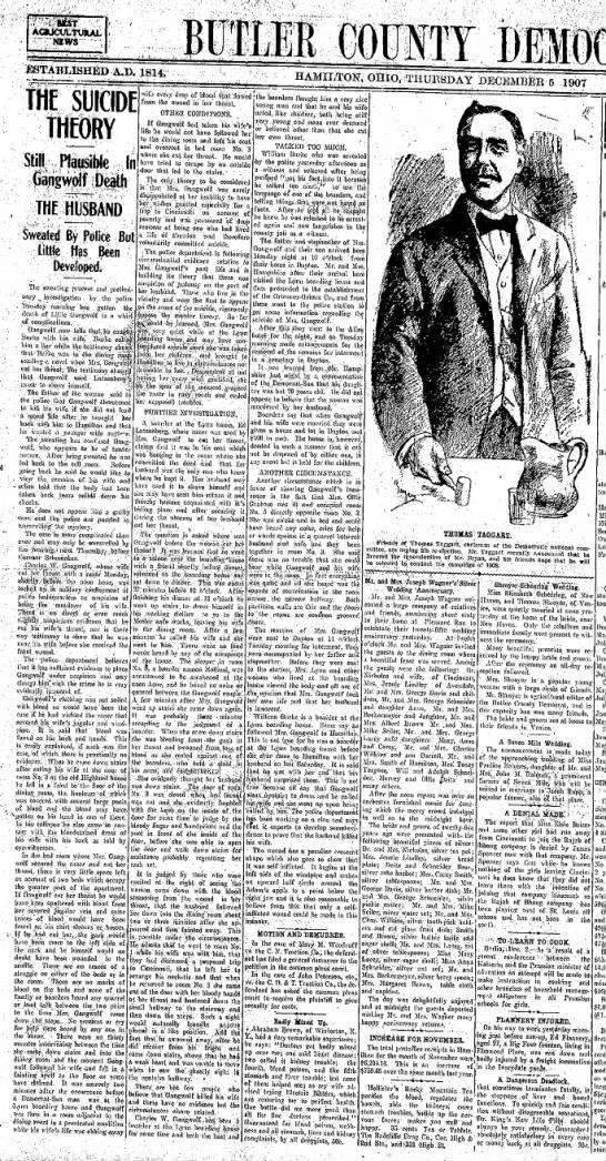 Charles Gangwolf, Lillian's death -